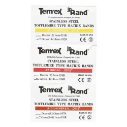 نوار ماتریس تافل مایر Tofflemire Type Matrix Bands Temrex