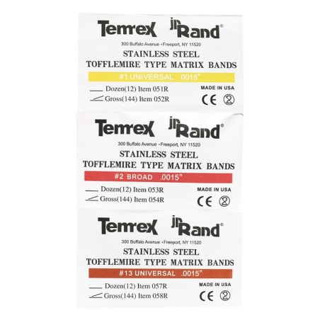 نوار ماتریس تافل مایر Tofflemire Type Matrix Bands Temrex
