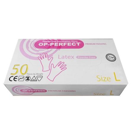 دستکش لاتکس بدون پودر Powder free examination Glove OP-PERFECT