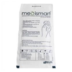 دستکش لاتکس استریل جراحی کم پودر مدی اسمارت medismart sterile latex surgical gloves