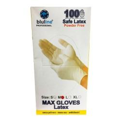 دستکش نیتریل آبی بدون پودر مکس گلاوز max gloves