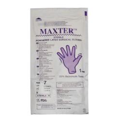 دستکش لاتکس جراحی استریل کم پودر مکستر MAXTER
